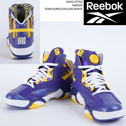 Reebok SHAQ ATTAQ M40343 TEAM PURPLE/YELLOW/WHITE