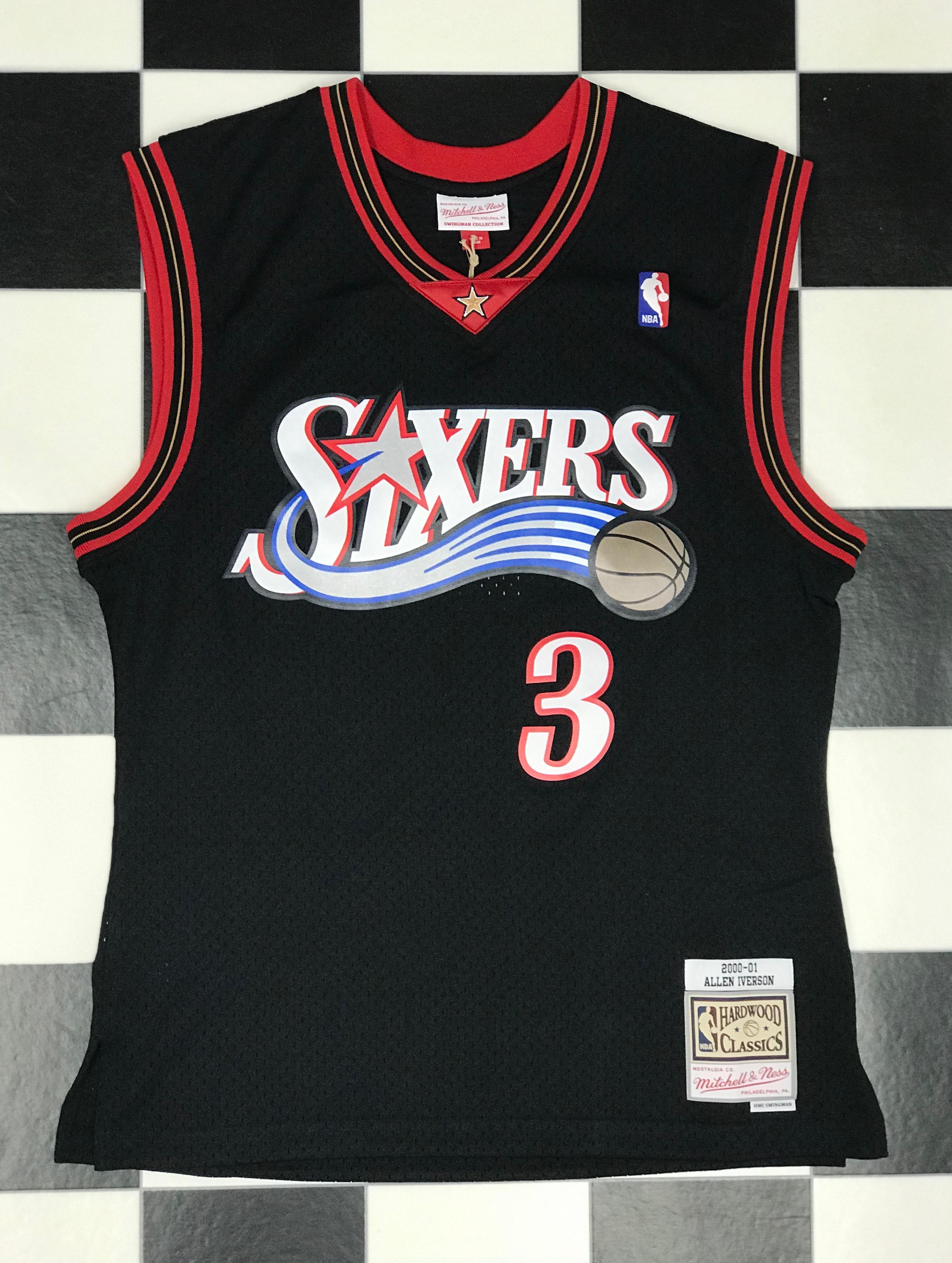 buy online b4df6 1c5d4 Swingman Jersey Philadelphia 76ers Road 2000-01 Allen ...